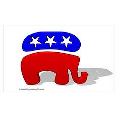 3D GOP Republican Elephant Poster