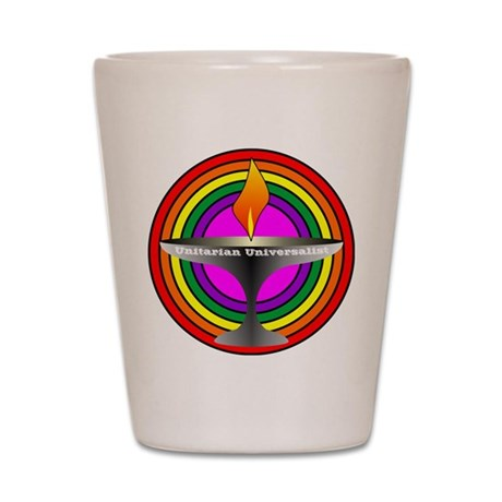UU Welcoming congregation Shot Glass