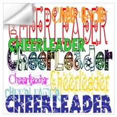 Multi Cheerleader Wall Decal