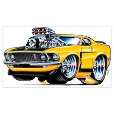 1969 Mustang Poster