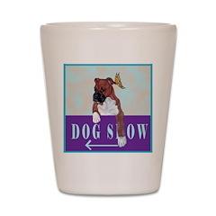 Boxer Puppy Shot Glass