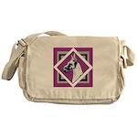 Harlequin Great Dane design Messenger Bag