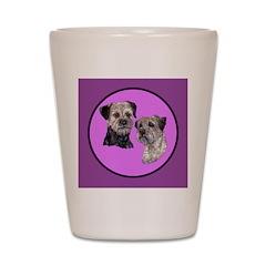 Border Terriers Shot Glass