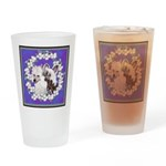 Chinese Crested Pair Drinking Glass
