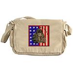 Black Poodle Messenger Bag