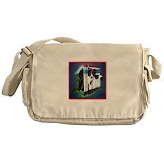 Agility Border Collie Messenger Bag