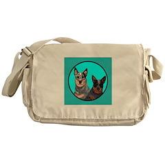 Australian Cattle Dog Pair Messenger Bag