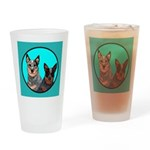 Australian Cattle Dog Pair Drinking Glass