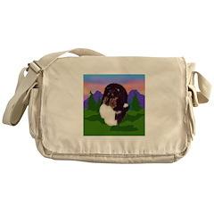 Tri colored Sheltie Messenger Bag