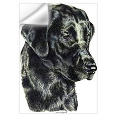 Black Labrador Retriever Head Wall Decal