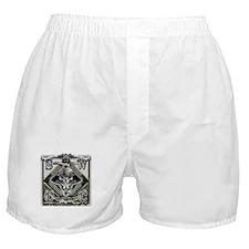 USN SWCC Silver Skull Boxer Shorts