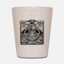 USN SWCC Silver Skull Shot Glass