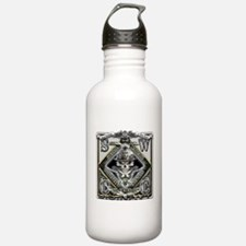 USN SWCC Silver Skull Water Bottle