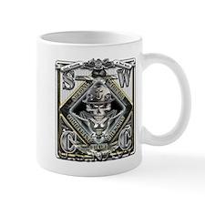 USN SWCC Silver Skull Mug