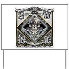 USN SWCC Silver Skull Yard Sign