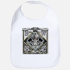 USN SWCC Silver Skull Bib