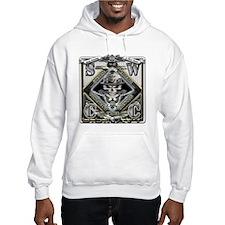 USN SWCC Silver Skull Hoodie