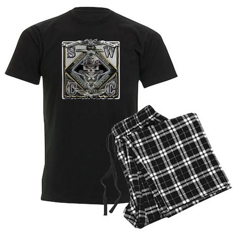USN SWCC Silver Skull Men's Dark Pajamas