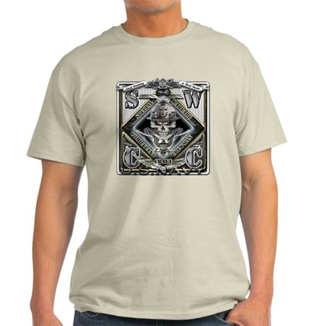 USN SWCC Silver Skull Light T-Shirt