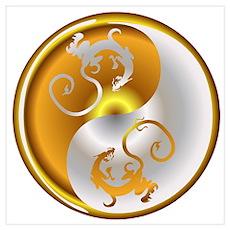 Zen Dragons Poster