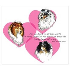 Sheltie Hearts Poster