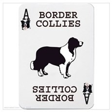 Border Collie Playing Card Ace Canvas Art