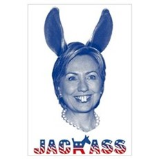 """Jackass Hillary Clinton"" Canvas Art"