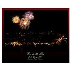 Mountainside Fireworks Poster