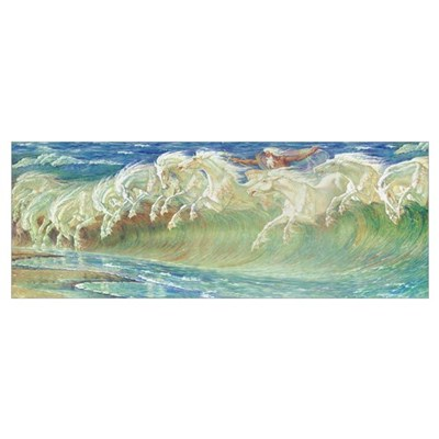 NEPTUNE'S HORSES Canvas Art