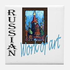 Russian WOA Tile Coaster