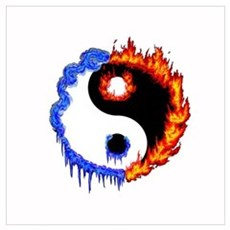 Ying Yang Ice and Fire Poster