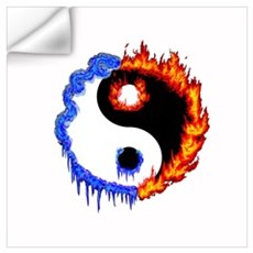 Ying Yang Ice and Fire Wall Decal