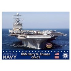 USS Harry S. Truman CVN-75 Poster