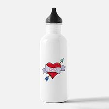 Dad Heart Water Bottle
