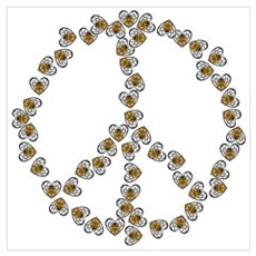 Peace Sign (made of bees) Poster