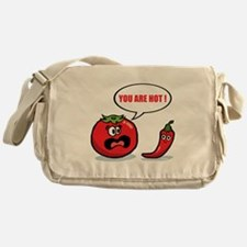 You are hot ! Messenger Bag