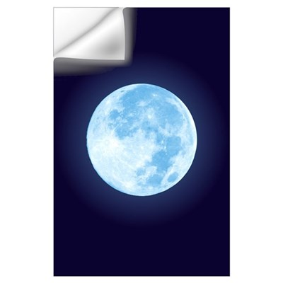 Blue Full Moon Wall Decal
