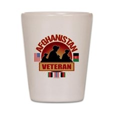 Afghanistan Veteran Flags Shot Glass