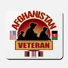 Afghanistan Veteran Flags Mousepad