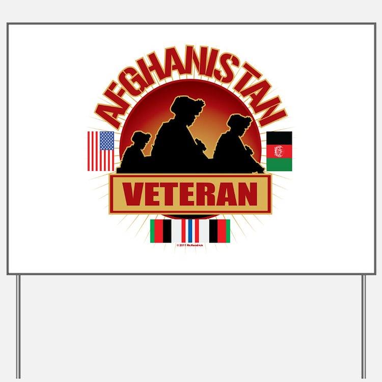Afghanistan Veteran Flags Yard Sign
