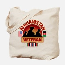 Afghanistan Veteran Flags Tote Bag