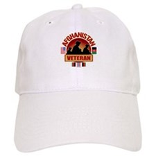 Afghanistan Veteran Flags Baseball Cap
