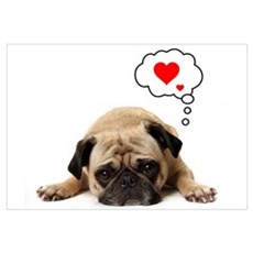 Pug Hearts Canvas Art