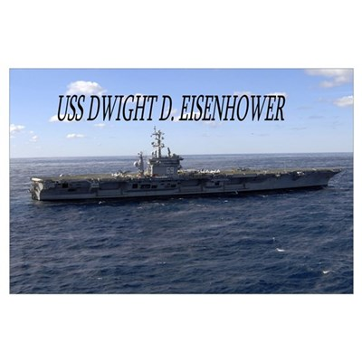 USS Dwight D Eisenhower Poster