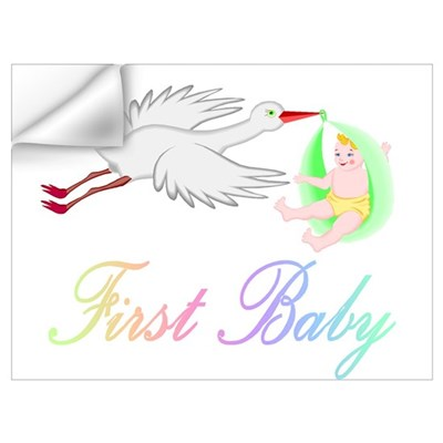 First Baby (Stork) Wall Decal