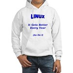 Linux Gets Better Hooded Sweatshirt