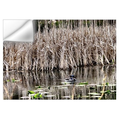 Mallards In Cattails Wall Decal