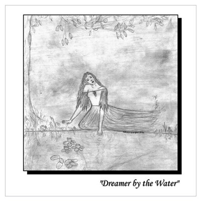 """Dreamer by the Water"" Framed Print"
