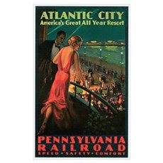 Vintage 1935 Atlantic City NJ Canvas Art