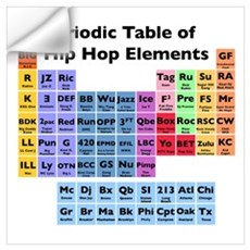 Hip Hop Table of Elements Wall Decal